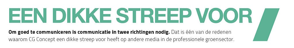 cg concept vakmagazine groenaanleg buitenruimte urbanisme